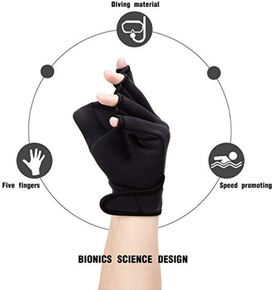 G//N Winter Gloves Thermal Gloves,Neoprene Swimming Training Gloves Webbed Flippers Diving Gloves