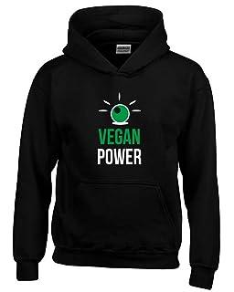 T-Shirtshock Felpa Cappuccio Bambino Nera WES0331 Vegan Power