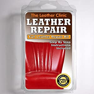 bright red leather sofa u0026 chair repair kit for tears holes scuffs with colour dye