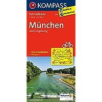 München und Umgebung: Fahrradkarte. GPS-genau. 1:70000 (KOMPASS-Fahrradkarten Deutschland, Band 3119)