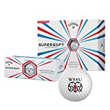 CollegeFanGear Winston Salem Callaway Supersoft Golf Balls 12/pkg 'WSSU Ram'