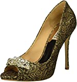 Badgley Mischka Women's Vanetia II Pump, Platino Lace, 8 M US