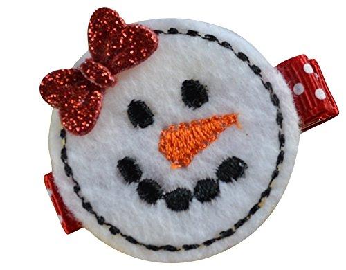 Sweet Snowman - Sweet Snowman Funny Girl Designs Felt Hair Clip (SNOWGIRL)