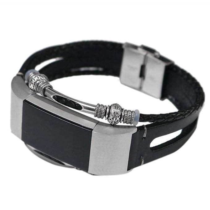 Bestow Fitbit Charge 2 Correa de Pulsera de Correa de Reloj de Pulsera de Cuero de reemplazo Elegante Reloj Reloj de Pulsera de Relojes de Electršnica ...