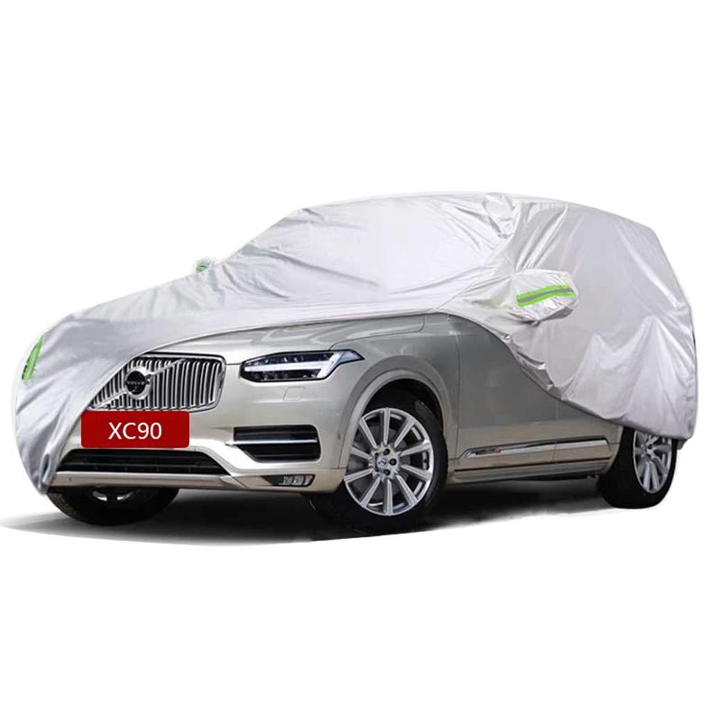 Zfggd Cubierta protectora para automóviles - SUV Cubiertas impermeables para todo clima para automóviles - Protección solar UV contra la lluvia para automóviles en interiores y exteriores Ajuste Volvo