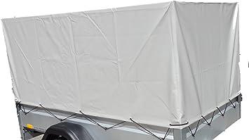Stema Z45076951 Anhänger Hochplane Plane Grau 80 Cm Für Kasteninnenmaß 201 X 108 Auto
