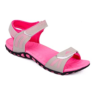 be72c8098b7 ASIAN Lily-02 Grey Pink Sports Sandals