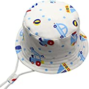 Happy Cherry Baby Sun Hat 50+ UPF Wide Brim Beach Bucket Hat Kids Boys Girls Summer Breathable Fisherman's