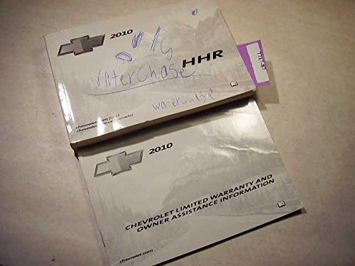 2010 Chevrolet HHR ink on cover Owners Manual