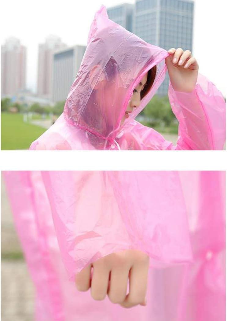Pioggia Poncho Impermeabile Leggero Poncho Impermeabile con Cappuccio Regolabile E Button per Adulti All'aperto in Bicicletta Escursione di Campeggio 20 Pz Yellow