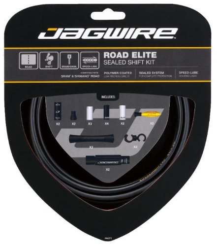 Pro Shift - Jagwire Road Elite Sealed Shift Cable Kit Frozen Black, One Size