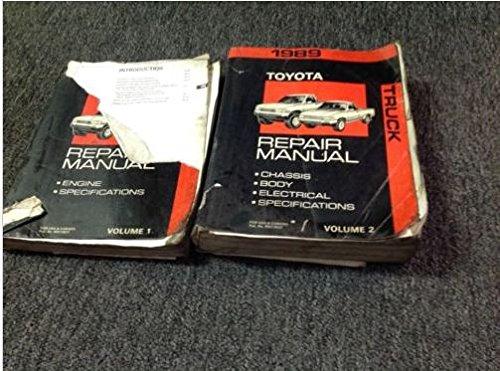 1989 Toyota Pickup Truck Repair Shop Manual Original Set