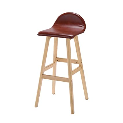 Bar Chairs Bar Furniture Elegant Appearance American Solid Wood Bar Chair European Bar Chair Retro Stool Backrest Front Desk Bar Chair High Stool