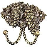 Sierra Lifestyles Decorative Hook, Pinecone, Antique Brass