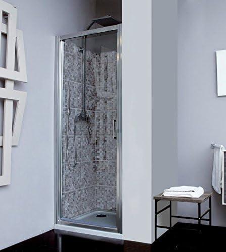 Mampara de ducha Naxos puerta pivotante – vidrio seguridad 5 mm antical altura 195 cm: Amazon.es: Bricolaje y herramientas
