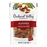 Orchard Valley Harvest Natural Whole Raw - Almonds - Case of 14-1.4 oz.