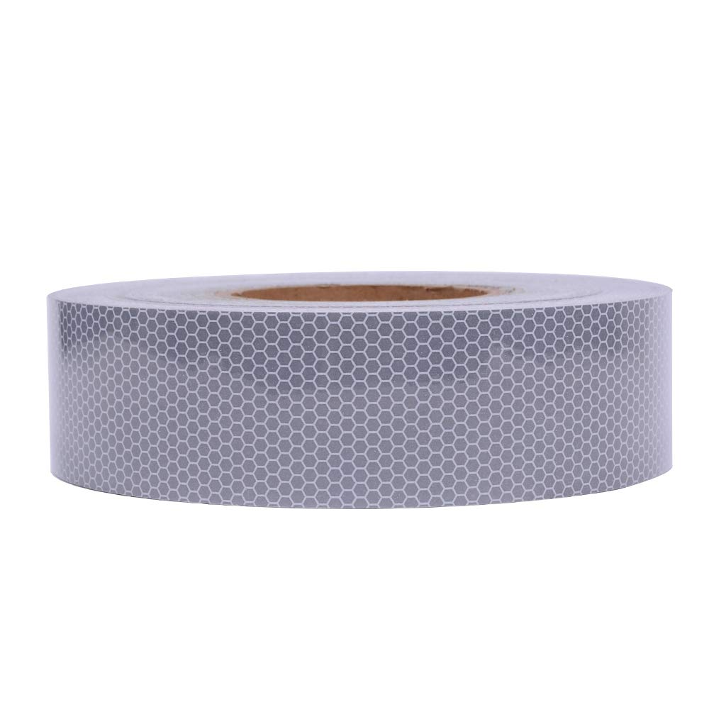2 x 30 Brightplus High Intensity Safety Tape Reflective Tape Auto Car Silvery White Adhesive