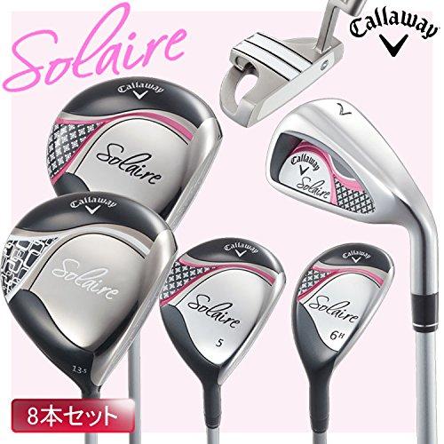 Callaway キャロウェイ SOLAIRE ソレイル 2016年 レディース ゴルフ クラブ ハーフセット 8本組み フレックス:L 日本仕様 キャディバッグなし B06XHXDXW3ピンク