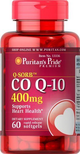 Puritans Pride Q-Sorb Co Q-10 400 Mg-60 Rapid Release Softgels, 60 Count