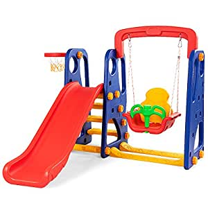 Amazon.com: Costzon Toddler Climber and Swing Set, 3 in 1