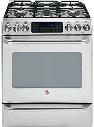 ge cafe cgs980semss 30 free standing gas range with 5 sealed burners appliances. Black Bedroom Furniture Sets. Home Design Ideas