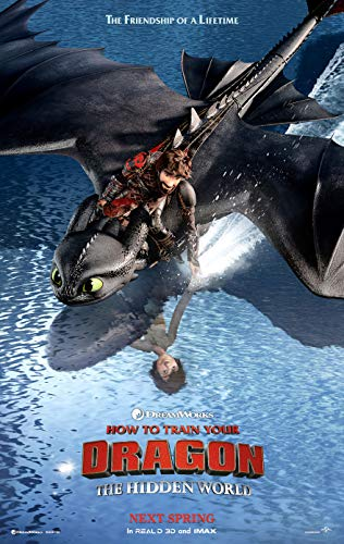 (HOW TO TRAIN YOUR DRAGON 3 THE HIDDEN WORLD MOVIE POSTER 2 Sided ORIGINAL Version C 27x40)