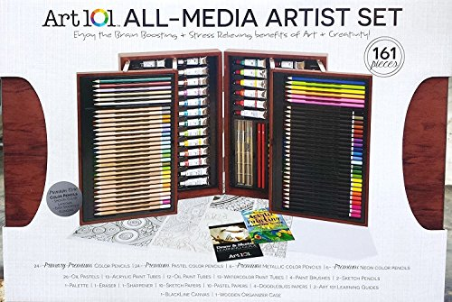 art-101-all-media-artist-painting-drawing-set-162-pieces-colored-pencils-gift-2
