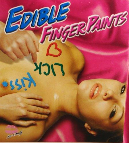 Kit étonnant de peinture Finger du corps comestibles