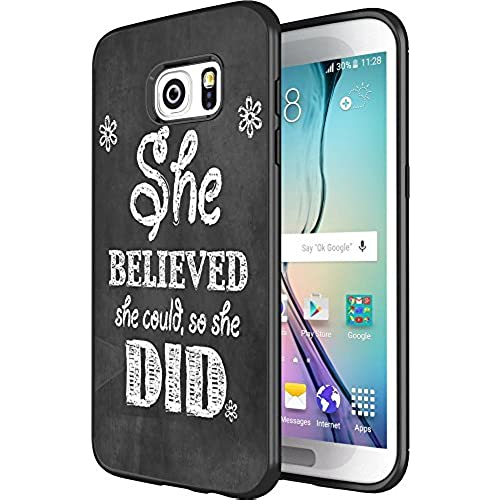 DOO UC(TM) Galaxy S7 Edge Case, Laser Technology for Protective Case for Samsung Galaxy S7 Edge Black She believed Sales