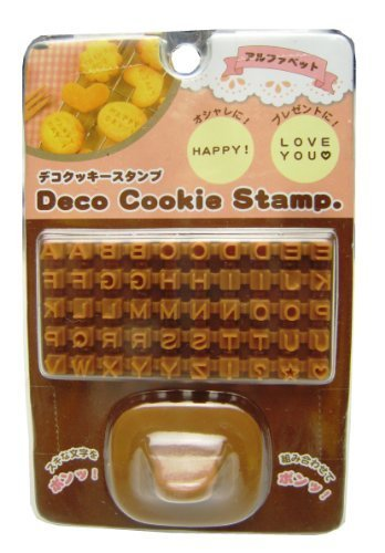 Deco Alphabet Letters Symbols Cookie Biscuit Stamp Tool Set by Deco