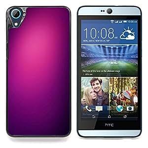 """Purpúreo claro Negro Color Limpie de ciruelo"""" - Metal de aluminio y de plástico duro Caja del teléfono - Negro - HTC Desire 626 626w 626d 626g 626G dual sim"""