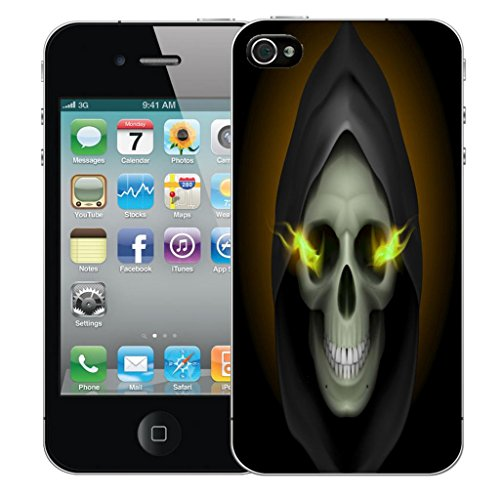 Mobile Case Mate iPhone 4 clip on Dur Coque couverture case cover Pare-chocs - hooded skull Motif