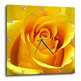3dRose LLC Yellow Rose 10 by 10-Inch Wall Clock Review