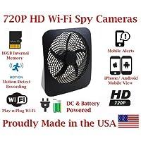 SecureGuard 720p HD WiFi Wireless IP Box Fan Hidden Security Nanny Cam Spy Camera with 16GB Memory
