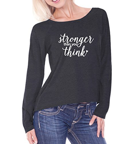 Stronger than you Think- Raw Edge Weekender Raglan