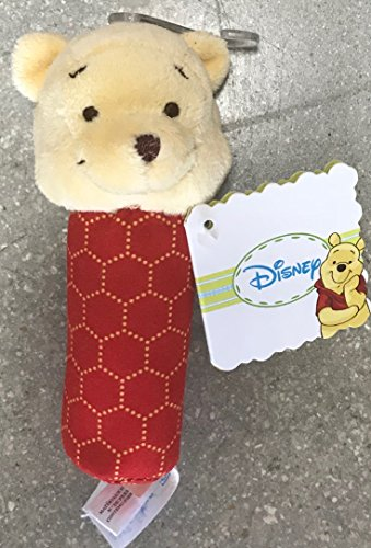 Disney ''Winnie The Pooh'' Mini Plush Rattle for Babies and NewBorn Boys or Gilrs 5 in. (Winnie The Pooh)