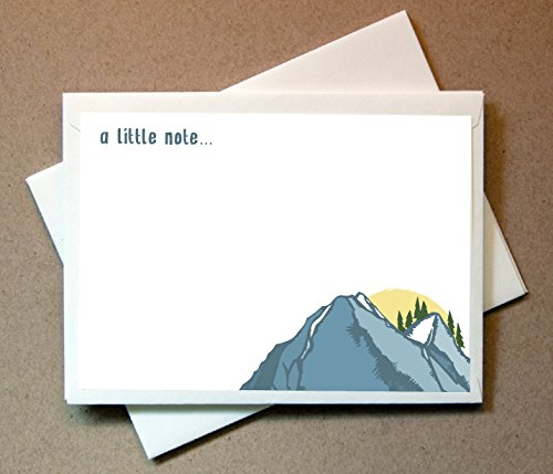 Mountain Note Cards (24 Non-foldover Cards and Envelopes) by Little Notes by Comptime
