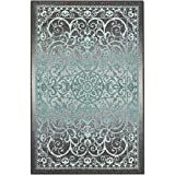 Maples Rugs Pelham 7 x 10 Large Area Rugs [Made in USA] for Living, Bedroom, and Dining Room, Blue Grey