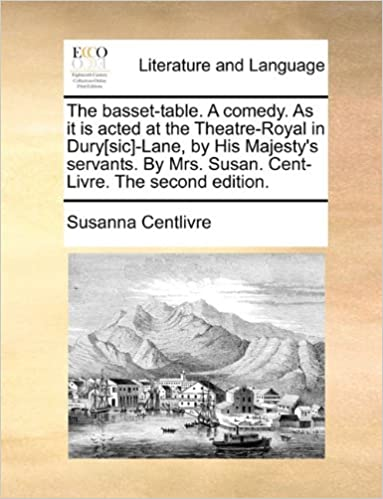 The Basset Table. A Comedy. As It Is Acted At The Theatre Royal In  Dury[sic] Lane, By His Majestyu0027s Servants. By Mrs. Susan. Cent Livre. The  Second Edition.