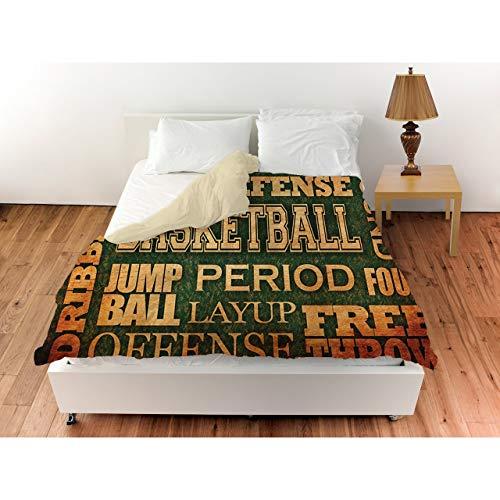 Buy thumbprintz basketball words duvet cover
