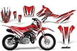 Honda CRF110 F Motocross Graphic Kit - (2013) - Nuke: White - Red - AMR Racing