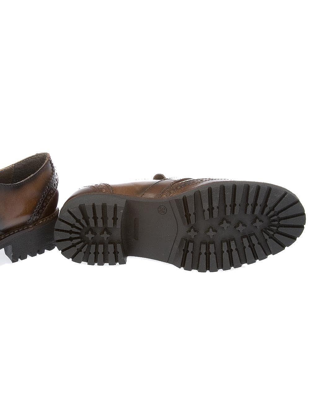 Donnapiu' Mujer 9993EBANO Marrón Cuero Zapatos con Correa Monk Monk Monk 0b2093