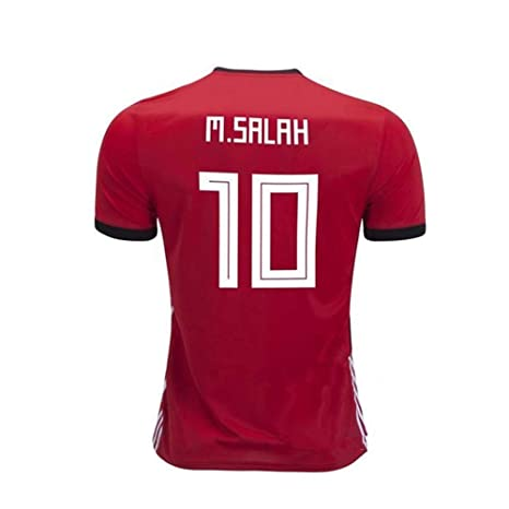 ca894e9ba73 Beermiaud Mens M. Salah Jersey  10 Egypt 2018 Soccer Home Adult Mohamed  Sizes Red