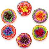 Cinco De Mayo Decorations Fiesta Tissue Pom Paper Flowers - Mexican Party Supplies 16'' (Set of 6)