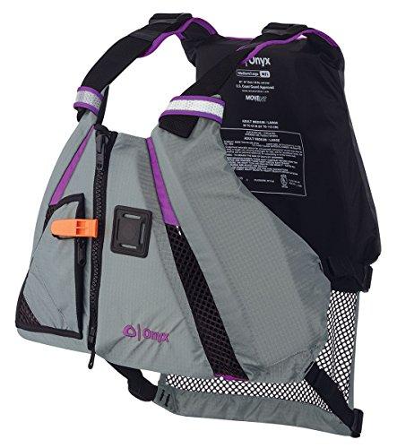 ONYX MoveVent Dynamic Paddle Sports Life Vest, X-Small/Small, Purple Purple Mesh Vest