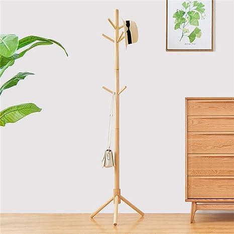 Amazon.com: KXBYMX Perchero de madera maciza para piso ...