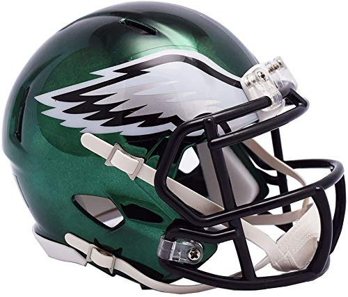 Riddell Philadelphia Eagles Chrome Alternate Speed Mini Football Helmet - NFL Mini Helmets