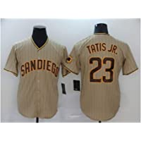 Padres # 23 TATIS JR. Camiseta de béisbol para Hombre Jersey, Manga Corta Uniforme del Equipo de Juego Botón Top Fan…