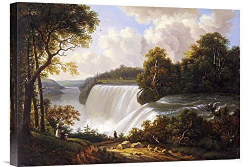 Global Gallery Budget GCS-264833-22-142 Victor Degrailly Niagara Falls Scene Gallery Wrap Giclee on Canvas Print Wall -