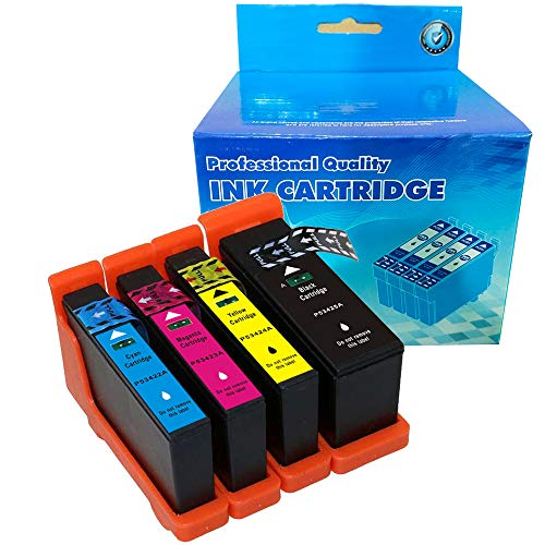(B-T Compatible Ink Cartridge Replacement for Primera 53428 53422 53423 53424 53425 Compatible with LX900 Series (1 Black, 1 Cyan, 1 Magenta, 1 Yellow,) 4 Pack)